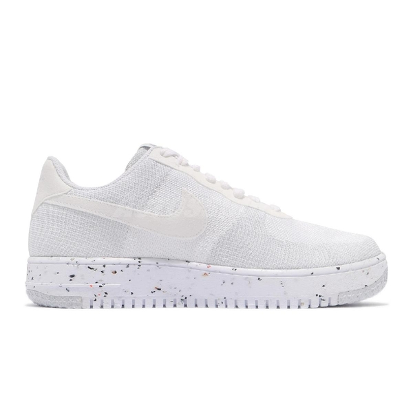 Nike 休閒鞋 AF1 Crater Flyknit 白 灰 Air Force 1 男鞋 針織鞋面 【ACS】 DC4831-100