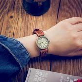 復古手錶女男韓版簡約石英錶舊羅馬刻度經典學生文藝情侶錶