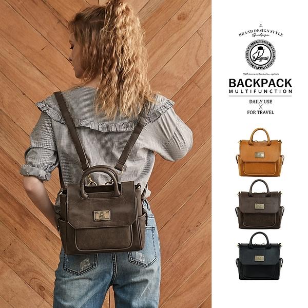 後背包1/2princess全新三代復古皮革mini三用包側背包 後背包 手提包-[A2688-1]
