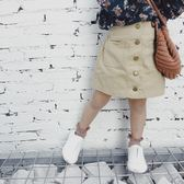 正韓童裝女童包裙中小童裙子春款2019新款兒童A字裙半身裙【萬聖節鉅惠】