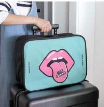 預購-可愛卡通手提旅行收納包 登機包大號行李衣物拉桿箱整理包