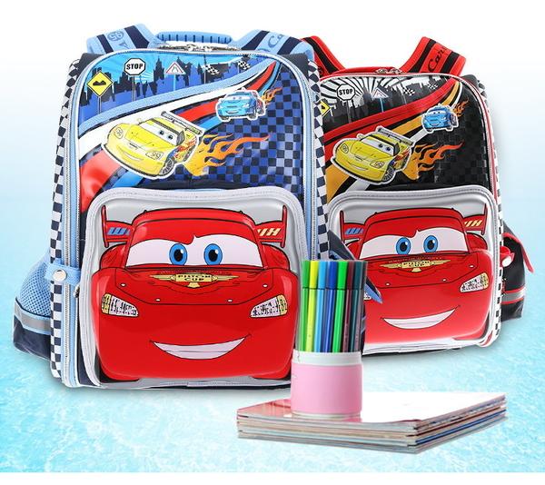 迪士尼汽車總動員兒童書包男小學生書包1-3年級太空減負雙肩包包