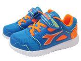 『雙惠鞋櫃』◆DIADORA迪亞多那 ◆中童款 電燈運動慢跑鞋 ◆ (DA3986) 藍桔