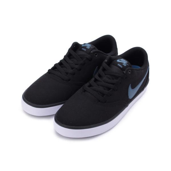 NIKE SB CHECK SOLARSOFT CANVAS SKATEBOARDING 休閒板鞋 黑藍 843896-017 男鞋 鞋全家福