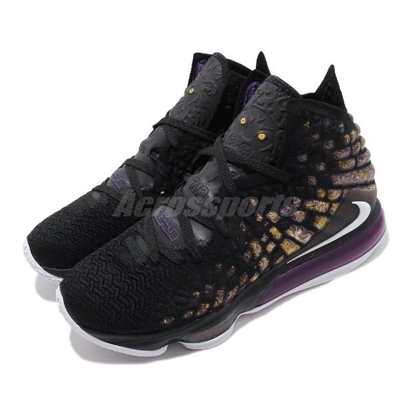 【六折特賣】Nike 籃球鞋 LeBron XVII EP PURPLE GOLD 黑 黃 男鞋 運動鞋 LBJ 17代 詹姆斯【ACS】 BQ3178-004