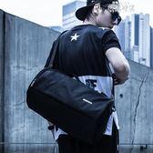 斜背包手提健身包男士圓筒包訓練包運動包行李包女旅行袋單肩學生籃球包  全館免運