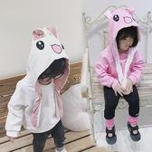 上衣 抖音同款女寶寶洋氣連帽T恤秋裝新款中小童會動的兔耳朵上衣女童衣服【中秋節】
