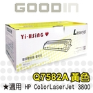 【全館免運●3期0利率】HP 環保黃色碳粉匣 Q7582A 適用HP CLJ 3800 雷射印表機