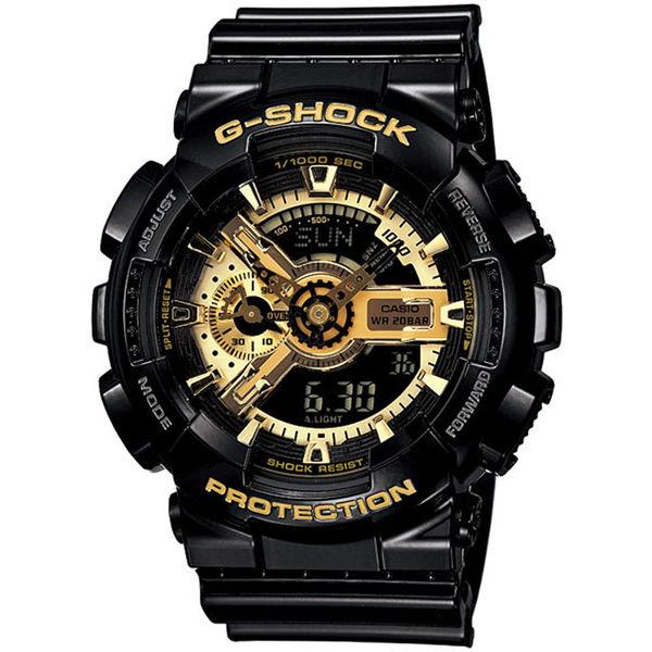 CASIO卡西歐G-SHOCK BIG G 金屬重機感雙顯腕錶 GA-110GB-1A