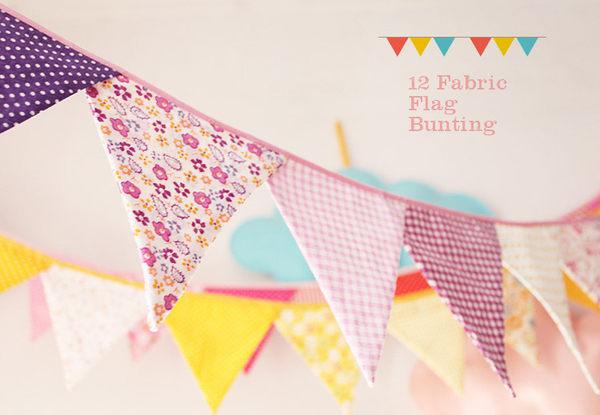 [韓風童品] 5色手工棉布三角旗 露營 兒童帳篷裝飾 生日派對 場景佈置 掛旗 慶生 節日野餐