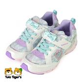日本月星 MoonStar SS女孩運動鞋 2E 魔鬼氈 中童鞋 白色 NO.R5965