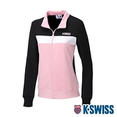 K-SWISS KS Logo Jacket運動外套-女-黑/粉紅