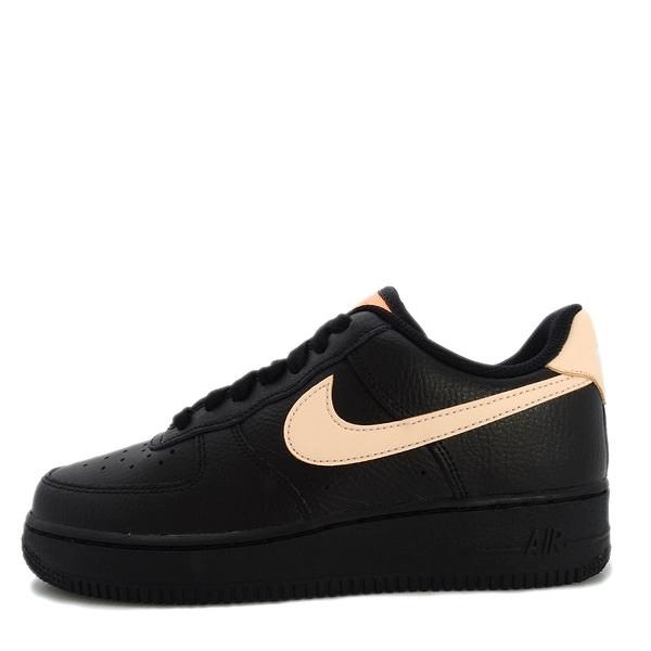Nike WMNS Air Force 1 07 [315115-039] 女鞋 休閒 經典 街頭 AF1 黑 粉橘
