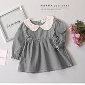 寶寶 氣質學院領格紋洋裝 文青 復古 可愛 秋冬童裝 寶寶洋裝 寶寶連身裙 寶寶長洋 寶寶連衣裙