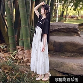 漢服 新漢元素古裝服裝齊胸襦裙古風洋裝仙女裝唐裝學生日常改良漢服 【快速出貨】