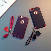 新款iphoneX手機殼帶掛繩蘋果7硅膠軟套6plus簡約防摔蘋果8潮男女【全館免運八折下殺】