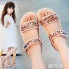 女童涼鞋 女童涼鞋新款夏季洋氣小公主實心軟底舒適小童寶寶兒童鞋子 韓菲兒