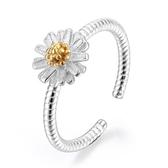 女小清新韓版雛菊小菊花鍍銀戒指開口向日葵銀指環女款 《小師妹》ps498