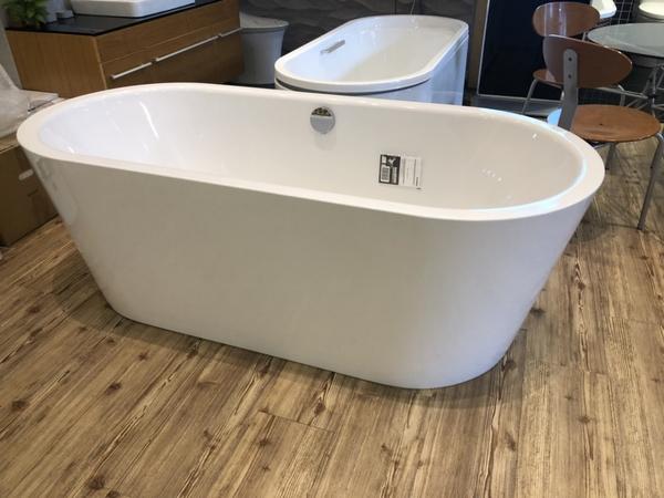 【麗室衛浴】德國原裝 鋼板搪瓷一體獨立缸 H-437-1  180*80*43/60CM