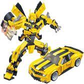 LEGO積木組裝積木變形金剛汽車人樂高相容積木拼裝玩具變形機器人金剛男孩子