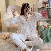 哺乳居家服月子服莫代爾夏薄套裝春秋產婦產后大碼長袖哺乳睡衣【公主日記】
