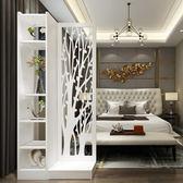 中式進門玄關櫃隔斷客廳現代簡約鏤空入戶座屏雙面創意裝飾屏風櫃 DF免運