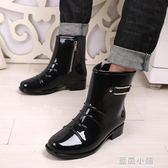 韓國時尚雨鞋男低幫男士雨靴 夏透氣防滑短筒水鞋拉鏈套鞋水靴潮 藍嵐