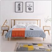 【水晶晶家具】無印生活5呎實木簡約時尚雙人床架~~不含床頭櫃 JX8085-2