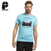 PROTEST 男 短袖T恤 (天空藍) REMAKE T-SHIRT