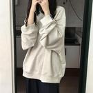 oversize慵懶風衛衣女2020春秋新款韓版寬鬆復古薄款長袖外套上衣 黛尼時尚精品