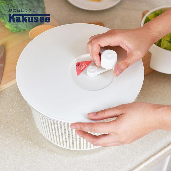 【日本Kakusee料理道具】蔬果生菜脫水籃-L