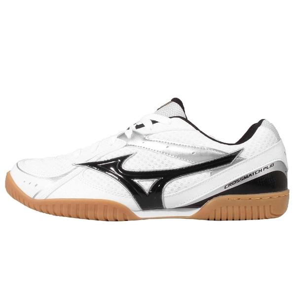 Mizuno 桌球鞋 Crossmatch Plio RX3 美津濃 白 黑 男鞋【ACS】 81GA163009