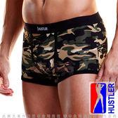 情趣內褲 性感丁字褲 情趣用品 同志 猛男 美國HUSTLER-性感模男平口內褲-迷彩綠(XL)