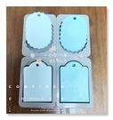 心動小羊^^肥皂香皂模型矽膠皂模藝術皂模具香磚擴香石三橢圓+三長方模