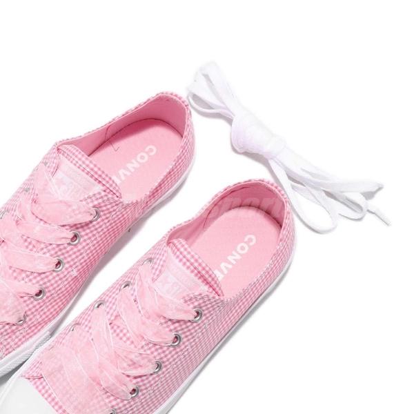 Converse Chuck Taylor All Star Dainty 粉紅 白 格紋 基本款 低筒 薄底 女鞋【ACS】 560832C
