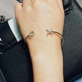 小C好康推薦正韓字母開口手鐲 女鍍18K玫瑰金幾何簡約手環 氣質閨蜜首飾