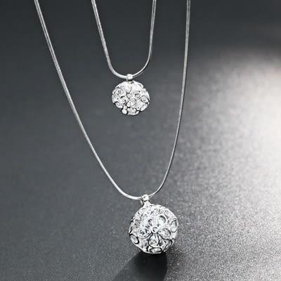 鑲鑽項鍊-可愛迷人生日情人節禮物女毛衣鍊73fv189【時尚巴黎】