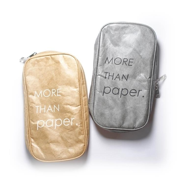 More than paper杜邦紙化妝刷包大容量Tyvek防水耐撕收納包燒餅包