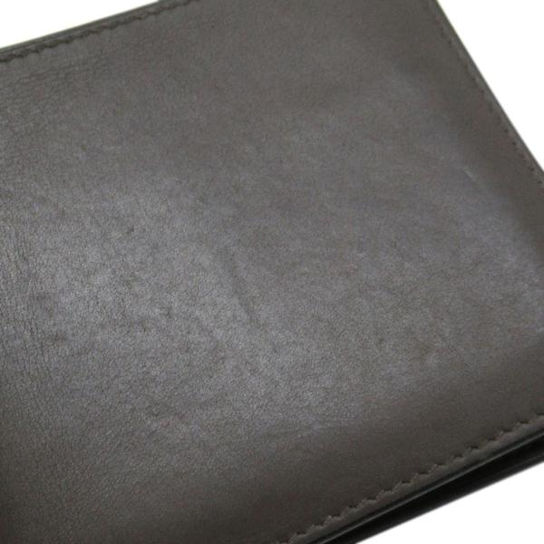 HERMES 愛馬仕 Citizen Twill Compact Wallet 灰色牛皮對折式絲巾短夾【BRAND OFF】