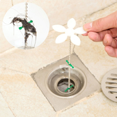 現貨-小花造型排水管防堵器 水管清潔勾 水槽暢通維持器 毛髮清潔鉤【C020】『蕾漫家』
