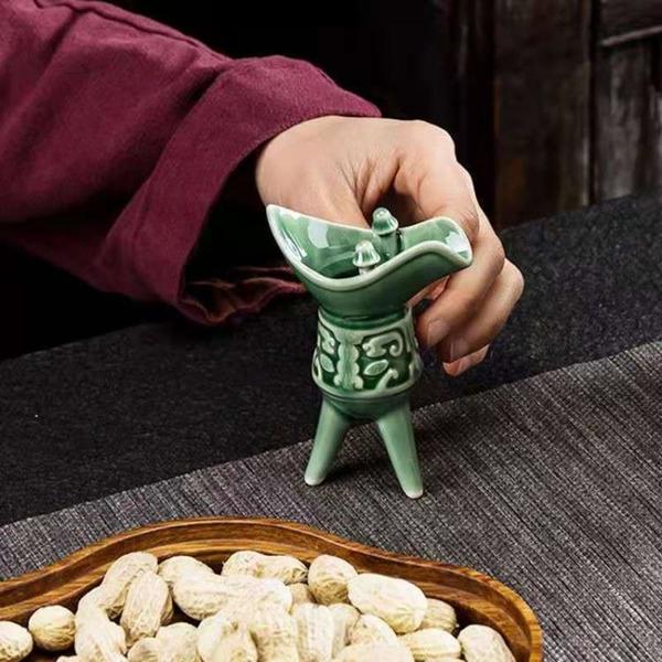 陶德坊陶瓷白酒杯 家用中式烈酒爵杯小酒盅創意水杯仿復古風套裝 「夢幻小鎮」
