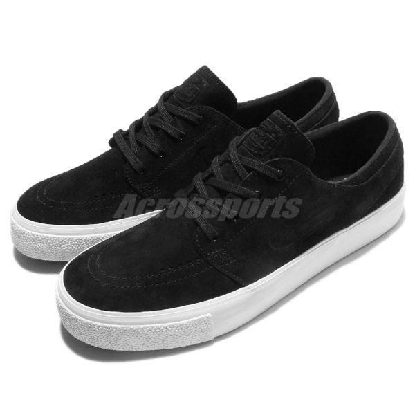 【五折特賣】Nike 滑板鞋 Zoom Stefan Janoski PREM HT 低筒 麂皮 休閒 黑 白 男鞋【PUMP306】 854321-001