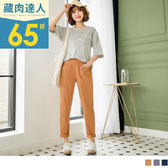 《BA4086-》純色車線腰圍鬆緊寬版老爺褲 OB嚴選