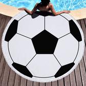 沙灘巾 球類 圖騰 印花 流蘇 野餐巾 海灘巾 圓形沙灘巾 150*150【YC021】 BOBI  04/03