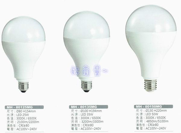 好商量~ MARCH LED 25W 燈泡 球泡 E27 大燈泡 高亮度 MH-80125MG