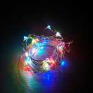 七彩 LED 銀線燈串 (3米/30燈/帶3節電池盒)