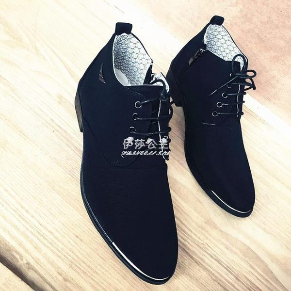 男鞋潮鞋男士馬丁靴英倫韓版男靴青少年透氣布面短靴『伊莎公主』