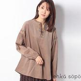 ❖ Autumn ❖ 彩色刺繡燈芯絨V領上衣 (提醒➯SM2僅單一尺寸) - Sm2