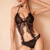 台灣現貨天天寄【粉紅菲菲】情趣內衣 露臀設計 睫毛蕾絲性感連體衣 性感內衣套裝 H343