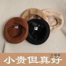 畫家帽 造型帽 日系秋冬季韓版百搭羊毛貝雷帽子女復古毛呢畫家帽英倫文藝蓓蕾帽